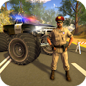 Police Truck Gangster Car Chase icon
