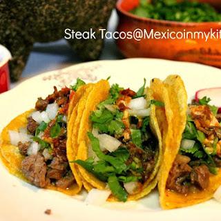 Mexican Steak Tacos / Cómo Hacer Tacos de Bistec