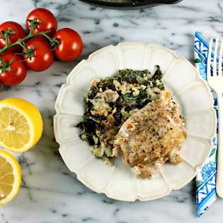 Kale & Mozzarella Baked Chicken Thighs