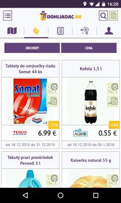 Dohliadač - Akcie a Letáky - screenshot