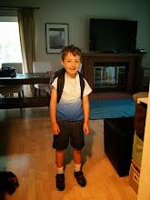 Photo: Clark's First Day of Kindergarten