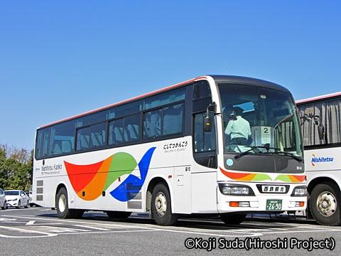 西鉄観光バス「フェニックス号」続行便 9114 宮原SAにて_01
