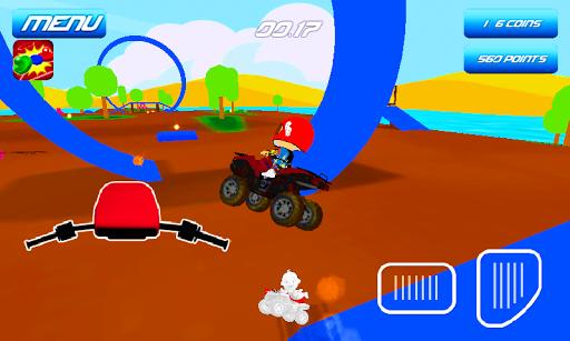 아기 쿼드 자전거 스턴트 - ATV 재미