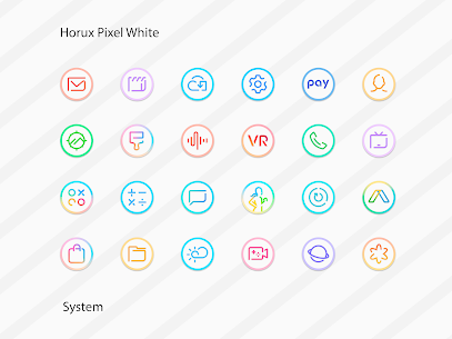 Horux White – Round Icon Pack (MOD, Paid) v2.2 2