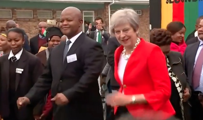 Last month British PM Theresa May was on a one-day working visit to South Africa.