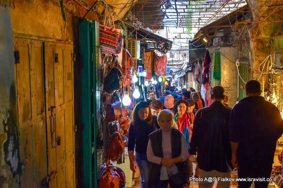Мусульманский квартал Старого города Иерусалима.