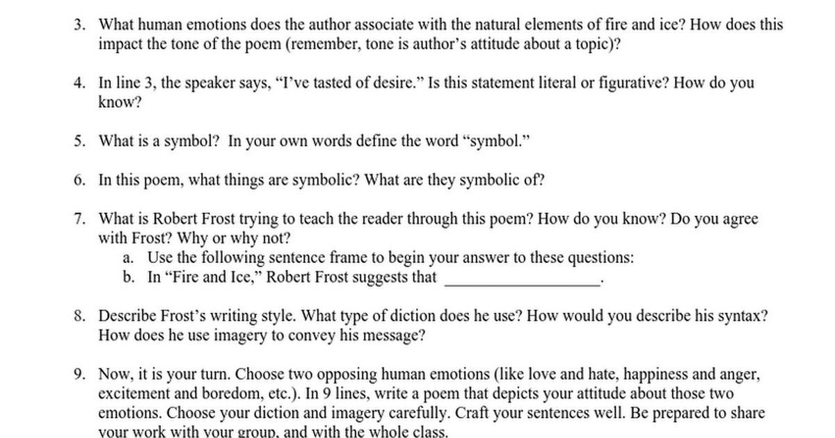 fire and ice google docs