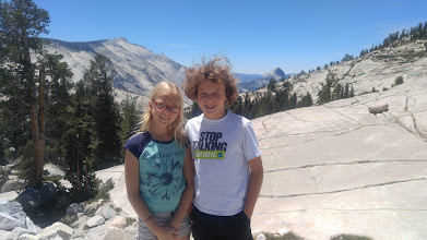 Photo: Olmstead Point with Cloud's Rest and Half Dome in the background.