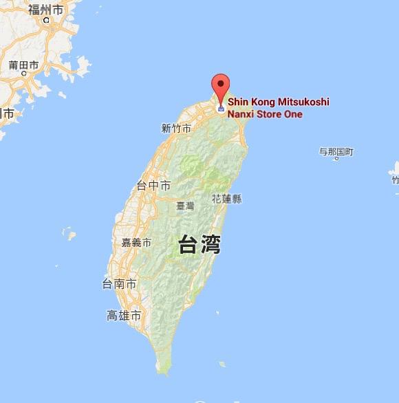 地図:ディンタイフォン(鼎泰豐)新光三越南西店