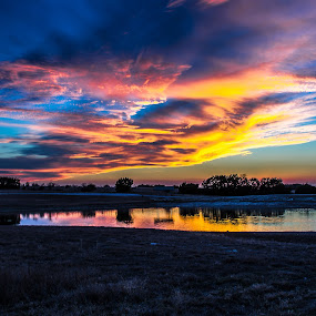 Color In The Skies by Robert Marquis - Landscapes Sunsets & Sunrises ( sunrises, nature, color, sunset, sunsets, colors, texas, bob marquis, reflections, landscape, landscapes )
