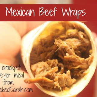 Mexican Beef Wraps for the Crockpot.