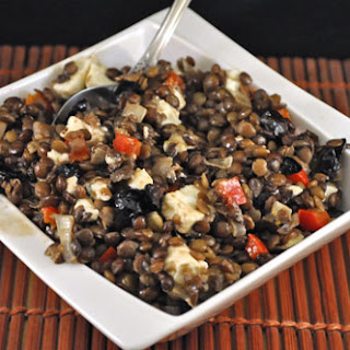 Lentils with Feta and Olives