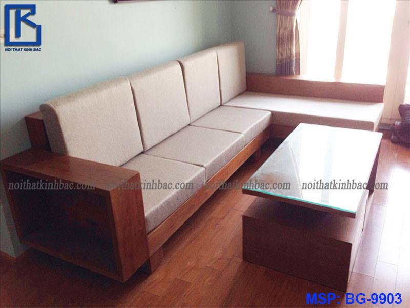 Mẫu bàn ghế gỗ phòng khách hiện đại BG-9903