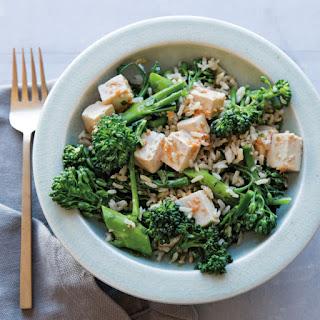 Spicy Tofu, Rice and Broccoli Salad
