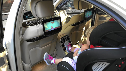 Our young executives loved the rear-seat infotainment system. Picture: MARK SMYTH