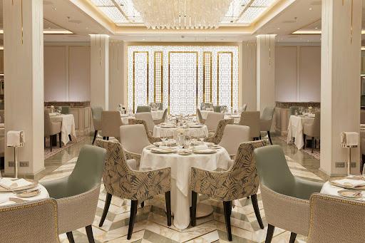 Compass Rose features fine seafood fare in an upscale venue on Seven Seas Splendor.
