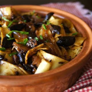 Black Garlic Pappardelle Pasta.