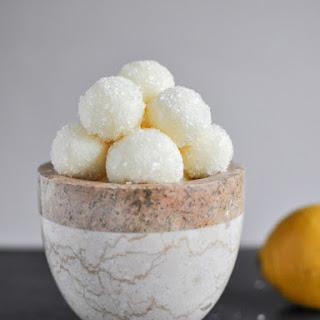 Sparkly White Chocolate Lemon Truffles.