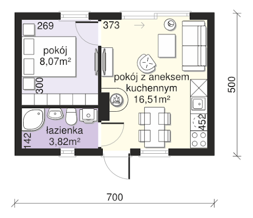 Dom przy Bukowej 35 N - Rzut parteru