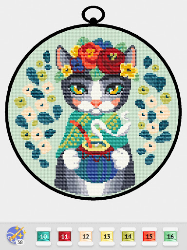 Cross Stitch Club u2014 Color by Numbers with a Hoop 1.4.12 screenshots 9