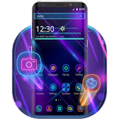 Purple Neon Launcher Theme