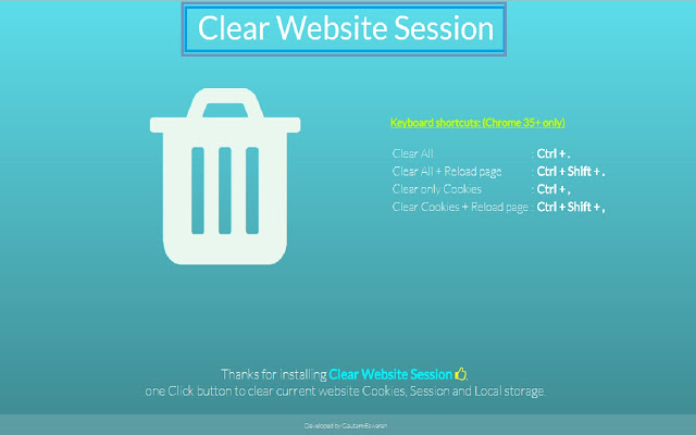 Clear Website Session