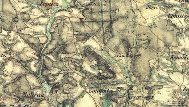 Photo: 2.vojenske mapovani, 19.stoleti. historicke mapy na http://www.mapy.cz/