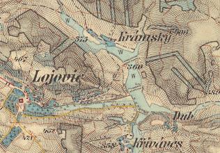 Photo: Nadherne podrobnosti 3.vojenskeho mapovani na nove dostupne mape v meritku 1:25000