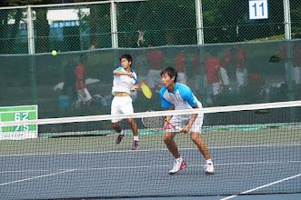 Photo: 昨年は4勝1敗とポイントゲッター的存在だった小林(4年)・長田 (3年)組だが、今年は流れを掴めず3戦して3敗と残念な結果に 終わった。