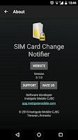 Screenshot of SIM Card Change Notifier