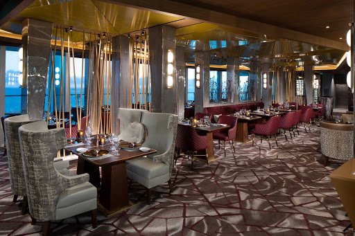 Head to the Fine Cut Steakhouse on Celebrity Edge class ships for an upscale steak and seafood experience.