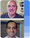 Gerente de produto da equipe de bancos de dados do Google, Ori Kashi, e Doug Mahugh, engenheiro do programa de desenvolvimento