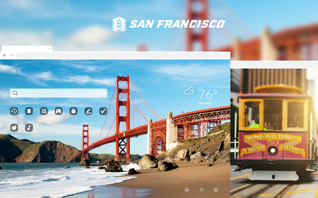 San Francisco HD Wallpaper New Tab Theme