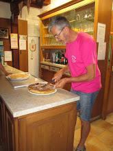 Photo: col de la Liese, chalet du Club vosgien Niederbronn, tarte aux myrtilles