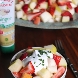 Boozy Ginger-Lemon Fruit Salad #HotSummerEats