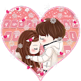 Cute Winter Couple DP Keyboard Theme