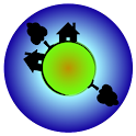 Tiny world and toon camera icon