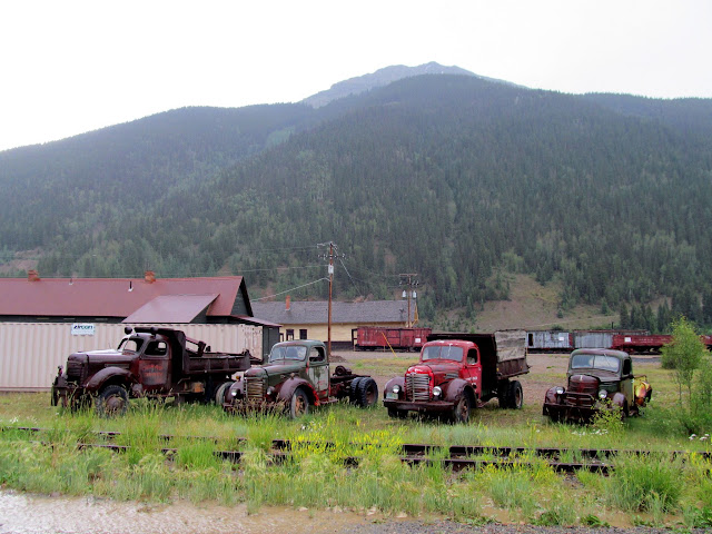 Old trucks in Silverton