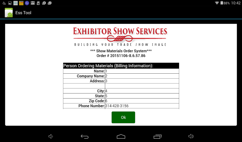 android Exhibitor Show Services Tool Screenshot 3