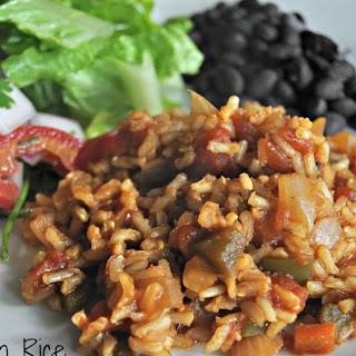 Brown Spanish Rice.