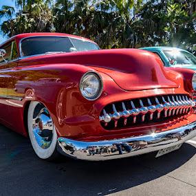 Big Red by Mel Stratton - Transportation Automobiles ( automobile, classic, car, classic car, transportation,  )