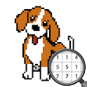 Dog Pixel Art Paint by Numbers icon