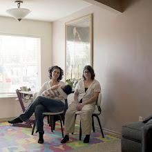 Photo: title: Jennifer Danis + Terri Dugan, San Diego, California date: 2012  relationship: friends, art, met at Hampshire College  years known: Jennifer, 20-25: Terri, 0-5