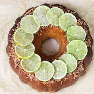 Coconut Lime Pound Cake.