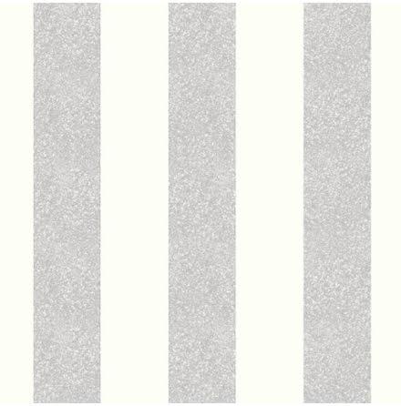 Arthouse Glitterati Stripe Glitter Platinum Tapet