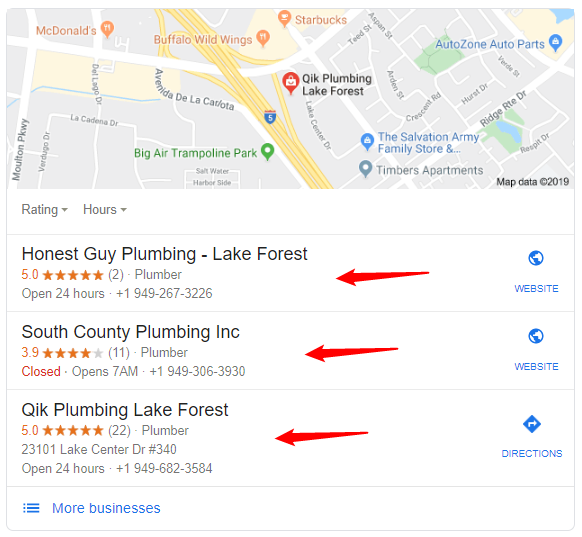 Map 3-Pack is a popular Google SERP feature for local businesses
