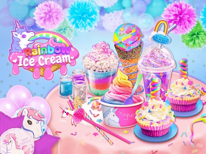 Rainbow Ice Cream - Unicorn Party Food Maker Android 1