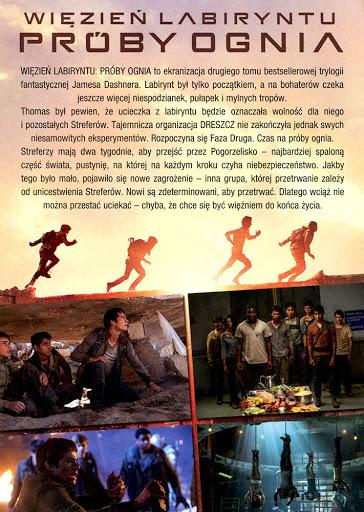 Tył ulotki filmu 'Więzień Labiryntu: Próby Ognia'