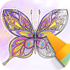 Butterflies coloring game icon