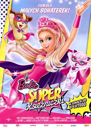 Przód ulotki filmu 'Barbie: Super Księżniczki'